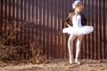 Картинка улица, пачка, забор, балерина, девочка