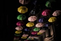 Картинка зонты, ночь, Luxemburg