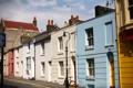 Картинка облака, голубое небо, blue sky, Traditional English architecture, Лондон, london, colorful buildings