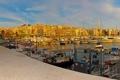 Картинка фото, причал, катера, лодки, город, пирс, дома