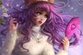 Картинка девушка, волосы, зеркало, арт, girl, розовые, слёзы