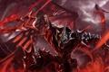 Картинка кровь, дракон, доспехи, воин, битва, сражение
