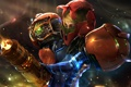 Картинка art, helmet, Samus Aran, Metroid