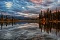 Картинка Канада, Pyramid Lake, Canada, озеро, Alberta, горы, Jasper National Park