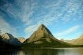 Картинка США, Glacier National Park, Клементс горы, озеро Swiftcurrent, штат Монтана