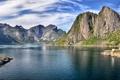 Картинка гора, фьорд, рёрбу
