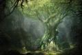 Картинка лес, дерево, арт, маг, вход, Lord of The Rings, War In The North
