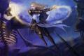 Картинка оружие, арт, битва, щит, скелеты, нежить, Diablo III
