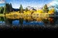 Картинка осень, смешивание, природа, лето, зима, озеро, сезоны