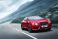 Картинка Красный, Bentley, Continental, Дорога, решетка, Передок, Range