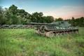 Картинка поле, оружие, танки