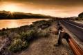 Картинка закат, пейзаж, небо, HDR, дорога