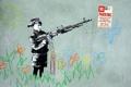 Картинка стена, мальчик, рисунок, оружие