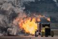 Картинка огонь, турбины, грузовик, тягач, Peterbilt