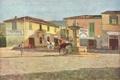Картинка картина, живопись, painting, Telemaco Signorini, La piazzetta di Settignano