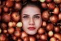 Картинка девушка, лицо, лук, слёзы