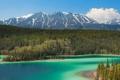 Картинка деревья, горы, озеро, Alaska, Emerald Lake