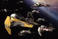 Картинка космос, истребители, star wars, R2-D2
