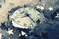 Картинка часы, лёд, звездочки
