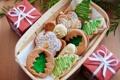 Картинка Новый Год, печенье, Рождество, Christmas, выпечка, сладкое, Xmas