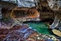 Картинка ручей, скалы, тоннель, Zion National Park, сша, юта