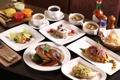 Картинка кофе, суп, мясо, пирожное, рис, утка, блюда