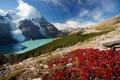 Картинка пейзаж, горы, природа, озеро, Канада