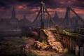 Картинка мост, река, война, вечер, Москва, New Union, Новый Союз