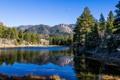 Картинка небо, деревья, горы, озеро, отражение