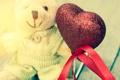 Картинка мишка, valentines, love, romantic, любовь, сердце, heart