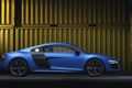 Картинка Audi, Авто, Ауди, Синий, V10, Спорткар, Вид сбоку
