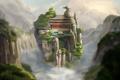 Картинка пейзаж, горы, скалы, азия, вид, высота, арт