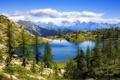 Картинка небо, пейзаж, горы, озеро