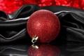 Картинка красный, отражение, игрушка, новый год, шарик, елочная