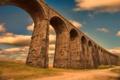 Картинка Англия, железнодорожный, виадук, долина реки Риббл, Норт-Йоркшир