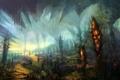 Картинка пейзаж, огни, фантастика, арт, by digitalhadz-, underground passage