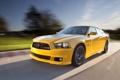 Картинка Charger, желтый, дорога, скорость, солнце, Dodge