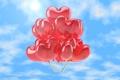 Картинка воздушные шары, sky, heart, love, romance, любовь, happy