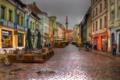 Картинка небо, дома, Эстония, башня, Таллин, улица
