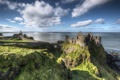 Картинка rock, coast, ireland, medieval, atlantic ocean, dunluce castle