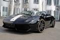 Картинка чёрный, Гайардо, Lamborghini Gallardo, золотая полоса