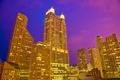 Картинка США, ночь, небоскребы, ночной город, Чикаго