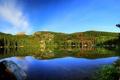 Картинка лес, природа, озеро, отражение, reflection, Bear lake