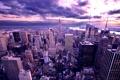 Картинка облака, город, высота, дома, небоскребы, америка, сумерки