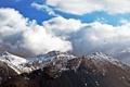 Картинка небо, облака, снег, горы