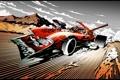 Картинка арт, тачка, быстрая, сумасшедший водила, reactive car, energy drive