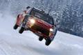 Картинка зима, in the Air, 4 ввоздух, Citroen, ралли