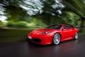 Картинка дорога, дождь, скорость, F430, Ferrari