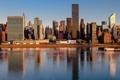 Картинка Нью-Йорк, USA, США, New York, NYC, New York City, Midtown East at Sunrise