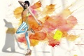 Картинка девушка, фон, цвет, сумка